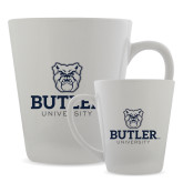 Full Color Latte Mug 12oz-Butler University Stacked Bulldog Head