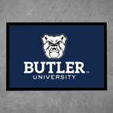 Full Color Indoor Floor Mat-Butler University Stacked Bulldog Head