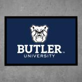 Full Color Indoor Floor Mat-Butler University Stacked Bulldog Head