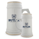 Full Color Decorative Ceramic Mug 22oz-Butler University Stacked Bulldog Head