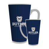 Full Color Latte Mug 17oz-Butler University Stacked Bulldog Head