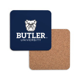 Hardboard Coaster w/Cork Backing-Butler University Stacked Bulldog Head