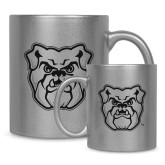 Full Color Silver Metallic Mug 11oz-Bulldog Head