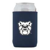 Collapsible Navy Can Holder-Bulldog Head