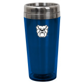 Solano Acrylic Blue Tumbler 16oz-Bulldog Head