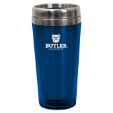 Solano Acrylic Blue Tumbler 16oz-Butler University Stacked Bulldog Head