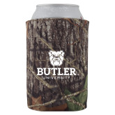 Collapsible Mossy Oak Camo Can Holder-Butler University Stacked Bulldog Head