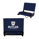 Stadium Chair Navy-Butler University Stacked Bulldog Head