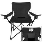 Deluxe Black Captains Chair-Bulldog Nation