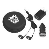 3 in 1 Black Audio Travel Kit-Bulldog Head
