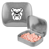 Silver Rectangular Peppermint Tin-Bulldog Head