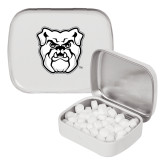 White Rectangular Peppermint Tin-Bulldog Head