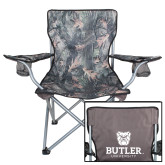 Hunt Valley Camo Captains Chair-Butler University Stacked Bulldog Head