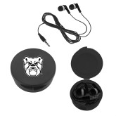 Ear Buds in Black Case-Bulldog Head