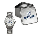 Ladies Stainless Steel Fashion Watch-Butler University Stacked Bulldog Head