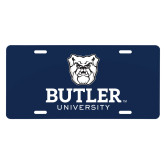 License Plate-Butler University Stacked Bulldog Head