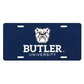 License Plate-Butler University Stacked Bulldog Head
