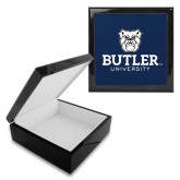 Ebony Black Accessory Box With 6 x 6 Tile-Butler University Stacked Bulldog Head