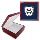 Red Mahogany Accessory Box With 6 x 6 Tile-Bulldog Head