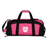 Tropical Pink Gym Bag-Bulldog Head
