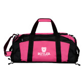 Tropical Pink Gym Bag-Butler University Stacked Bulldog Head