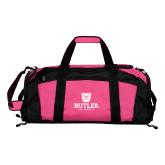 Tropical Pink Gym Bag-Butler University Stacked Bulldog Head