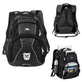 High Sierra Swerve Compu Backpack-Bulldog Head