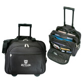 Embassy Plus Rolling Black Compu Brief-Butler University Stacked Bulldog Head