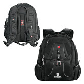 Wenger Swiss Army Mega Black Compu Backpack-Butler University Stacked Bulldog Head