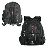 Wenger Swiss Army Mega Black Compu Backpack-Butler University Stacked Bulldog Head