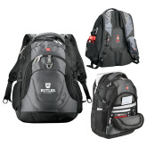 Wenger Swiss Army Tech Charcoal Compu Backpack-Butler University Stacked Bulldog Head