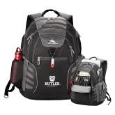 High Sierra Big Wig Black Compu Backpack-Butler University Stacked Bulldog Head