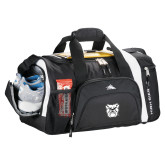 High Sierra Black 22 Inch Garrett Sport Duffel-Bulldog Head