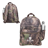 Heritage Supply Camo Computer Backpack-Butler University Stacked Bulldog Head