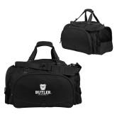 Challenger Team Black Sport Bag-Butler University Stacked Bulldog Head
