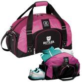 Ogio Pink Big Dome Bag-Butler University Stacked Bulldog Head