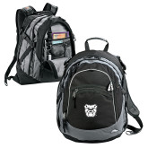 High Sierra Black Titan Day Pack-Bulldog Head