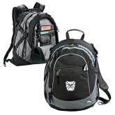 High Sierra Black Titan Day Pack-Bulldog Head