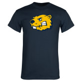 Navy T Shirt-Mascot Head