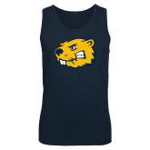 Navy Tank Top-Mascot Head