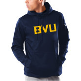 Under Armour Navy Armour Fleece Hoodie-BVU Monogram