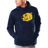 Under Armour Navy Armour Fleece Hoodie-Mascot Head