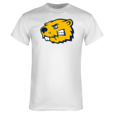 White T Shirt-Mascot Head