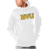 Under Armour White Armour Fleece Hoodie-BVU Monogram