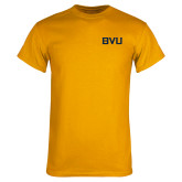 Gold T Shirt-BVU Monogram