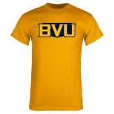 Gold T Shirt-BVU Badge