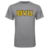 Grey T Shirt-BVU Monogram