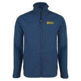 Navy Softshell Jacket-BVU Monogram