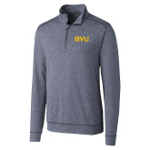 Cutter & Buck Shoreline Navy 1/2 Zip-BVU Monogram