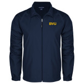 Full Zip Navy Wind Jacket-BVU Monogram